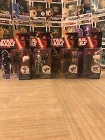 Hasbro Star Wars Force Awakens Action Figure Lot, Kylo Ren, Phasma, Hux, Pilot