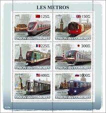 Metro Trains Subway Locomotives Comores 2008 m/s Sc.1015 MNH #CM8120a