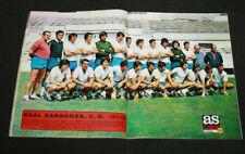 FOOTBALL FUTBOL LIGA CARTEL POSTER REAL ZARAGOZA ESPANA SPAIN 1973-74