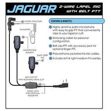 Earphone Connection JAGUAR Headset for ICOM F11 F11S F21 F21S F31 Two-Way Radios