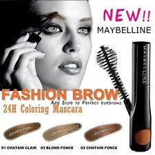 GEMEY MAYBELLINE FASHION BROW MASCARA SOURCILS 24 H SEMI PERMANENT CHATAIN CLAIR