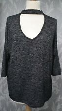 Black Fleck Neck Strap Top from New Look size M