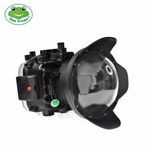 """Seafrogs 40m/130ft Underwater Camera Housing for Sony A7S III with 6"""" Dome Port"""