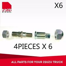 KIT REAR WHEEL NUTS & PIN RH 4 PCS (6 KITS)