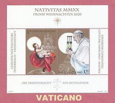 Vaticano  2020  NATIVITAS NATALE CHRISTMAS   Foglietto MNH