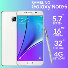 **New Unlocked White Samsung Galaxy Note 5 SM-N920A 32gb 4G LTE Smartphone**