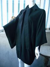 Yohji Yamamoto BLACK Wool Kimono Coat Jacket ~ 1