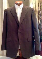 Corneliani Mens Brown Plaid Cashmere Wool Blazer Sports Coat Sz 44 L MINT!