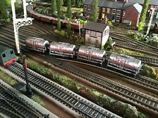 Rake of 4 Mainline (Suit Hornby) Weathered Shell Tanker Wagons