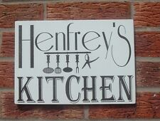 shabby vintage chic plaque personalised kitchen plaque sign hanging gift 12x8