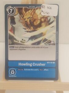 Bandai * Digimon TCG * Special Booster * Howling Crusher * BT1-101 * Common
