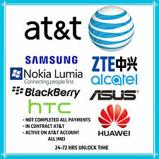 FACTORY UNLOCK PREMIUM SPEED SERVICE CODE AT&T alldevices IPHONE SAMSUNG HTC ATT
