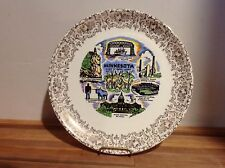 "MINNESOTA souvenir state plate, vintage tourist item - 9 1/4"" - lot prd"