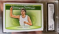 2018-19 Luka Doncic Rookie Card Upper Deck Goodwin Champions  Insert Gem Mint 10