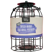 Squirrel guard caged bird fat ball feeder green H27cm from Natures Market