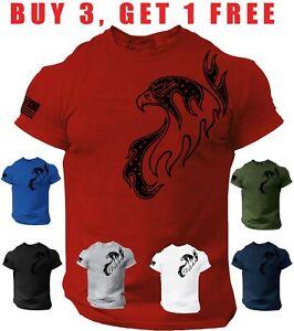 Eagle T-Shirt Distressed U.S Flag American patriotic Tee Shirt