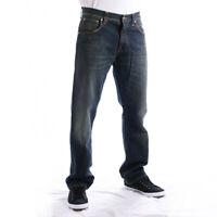 Nudie Herren Regular Straight Fit Bio Denim Jeans - Easy Emil Heavy Blue