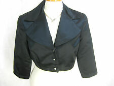 Studibaker Size 12 Silky Black Crop Formal Jacket