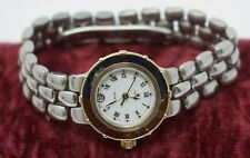 Vintage c. 1990 Ladies Swiss CYMA Quartz Dive Watch Pepsi Bezel Stainless Steel