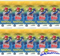 (10) 2020 Topps Update Baseball HUGE Factory Sealed JUMBO FAT PACKS-340 Cards!