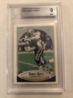1990 Fleer Update #u40 Emmitt Smith Bgs 9 (RC) Cowboys