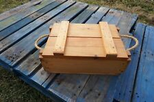 Storage/Ammo Crate Rope Handles Made with Recycled Wood Holds 250 12 Ga Shells