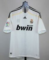 Real Madrid Spain home football shirt 09/10 Size M Adidas