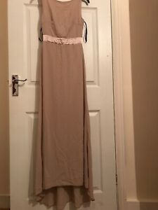 TFNC Mink Bridesmaid Dress Size 8 with Ribbon Bow back detail