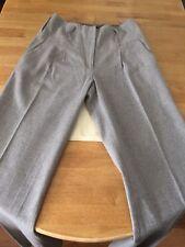 River Island Light Grey Cotton/Woollen Long Formal Trouser Size 12 UK Very Nice