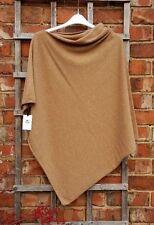 BNWT Harrods 100% Cashmere Camel Asymmetrical Poncho (One Size) RRP £250