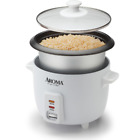 6 Cup Rice Cooker Non-Stick Pot 3-Piece Measure Cup & Serving Cooking Kitchen photo