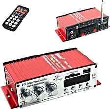 Amplificatore per auto,moto,barca.2 canali.Amplifica Watt audio casse. Antenna