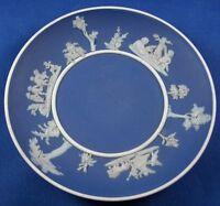 Nice Antique Wedgwood English Blue Jasperware Saucer Dish England Jasper Ware