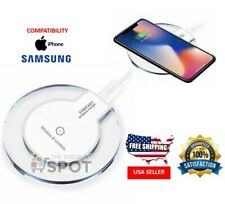 Wireless Charger Qi Universal Slim Charging Pad w Micro USB Cable iPhone Samsung