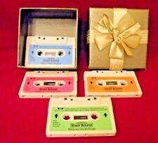 Teddy Ruxpin bear tape cassette 1985  WOW x 4 world of wonder
