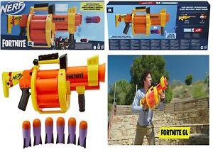 NERF Fortnite GL Rocket Firing Blaster Ages 8+ Toy Gun Fire Fight Play Gift Fun
