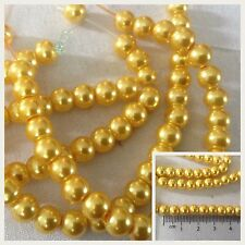 Yellow Beads 5mm X25 for Jewellery Making & Crafts *UK SELLER*