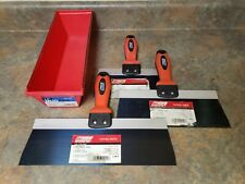 Wal Board 81012 Blue Steel Blade Taping Knife Set With 12 Plastic Mud Pan