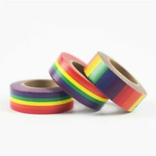Washi Adhesive Tape Rainbow  School Supplies Stationery Office Paper 15mm 1pcs