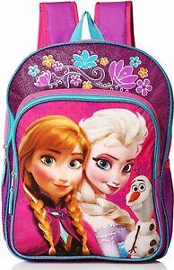 "DISNEY FROZEN ANNA & ELSA Light-Up 16"" Backpack w/ Optional Insulated Lunch Box"