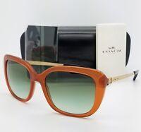 834fd2a92e3 New Coach sunglasses HC8229 55028E 55mm Amber Gold Gradient brown 8229  AUTHENTIC