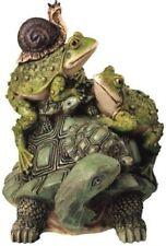 Garden Statue Frog Turtle Snail Art Animal Outdoor Yard Lawn Patio Gift Decor