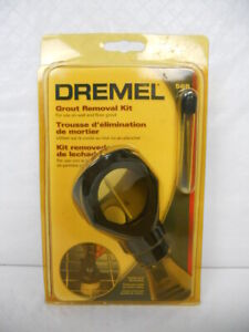 DREMEL 568 Grout Removal Kit - Bit with Depth Guide - New in Sun Faded Package