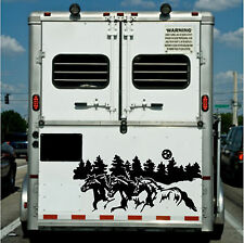 Running Horses Border Horse Trailer Truck Rv Camper Decal Stickers 22x40
