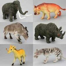 Prehistoric Animals Teaching Toys 6pcs Animal Tiger Wolf Mammoth Saber Toothed