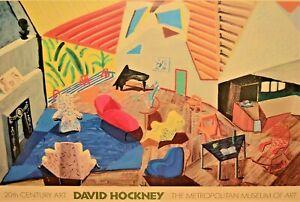 DAVID HOCKNEY Vintage Metropolitan Museum of Art Exhibition Lithograph Poster