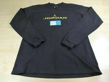 NIKE AIR JORDAN JUMPMAN LOGO AJ IV 4 RETRO THUNDER BOYS L/S SHIRT BLACK XL TOUR