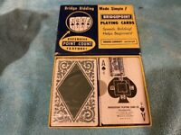 VINTAGE PLAYING CARDS DOUBLE DECK BRIDGEPOINT W/ POINT COUNT & TAX STAMP SEALED