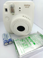 Fujifilm Instax MINI 8 Instant Camera - White / Cream - with 10 shots Film Pack