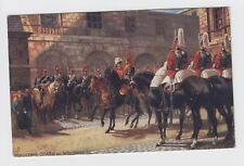 Tuck's Oillette 1904 Military London Postcard Mounting Guard at Whitehall